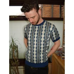 Blue Sunburst Cable Knit