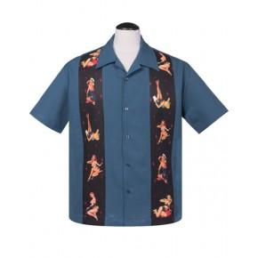 Steady - Blue Multi Pinups Shirt