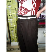 Dark Chocolate High waisted Trousers