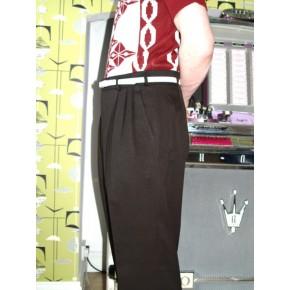 Triple Pleat Dark Chocolate Brown Trousers