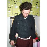 Black Check Long Sleeve Gab Shirt