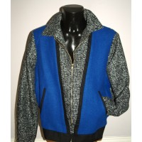 Black Fleck/Blue Front Albie Jacket