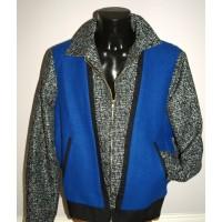Black Fleck/Blue Front Albie Jacket