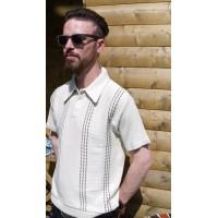 Cream 3 Button Knitted Shirt