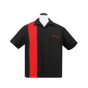 Steady - Black/Red Poplin Shirt