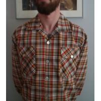 Red Plaid Long Sleeve Gab Shirt