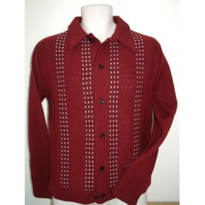 Long sleeved Claret Knitted Shirt