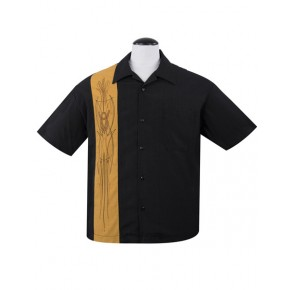Steady - Mustard V8 Pinstripe Shirt