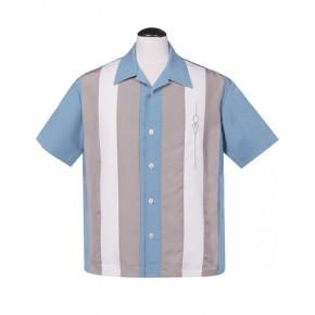 Steady - Pale Blue Sheen Shirt