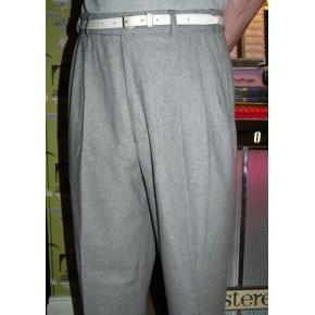 Silver Grey Triple Pleat Trousers