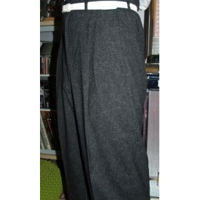 Black Fleck High Waisted Trousers
