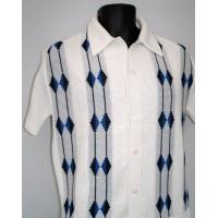 Cream Honeycomb Knitted Shirt