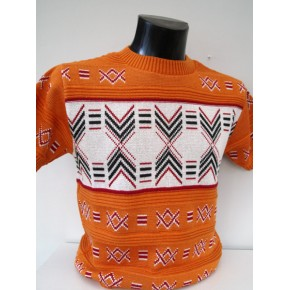 Burnt Orange Thunderbird Knit