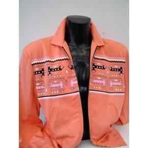 Pale Orange Dragons/Dogs Gab Jacket