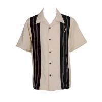 Steady Clothing - Cream/Brown Crown Panel Shirt