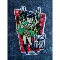 Vince Ray - Bongo Beat Girl Sticker