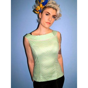 Emmy - Mint Green Boatneck Top