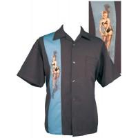 Classic Steady Grey Pinup Panel Shirt
