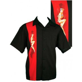 Classic Steady Black Pinup Shirt