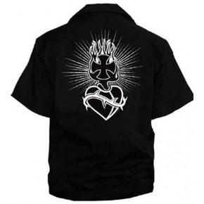 Iron Cross/Sacred Heart - Work Shirt
