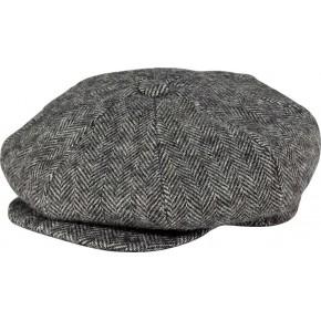 Grey Herringbone Baker Boy Cap c1559c59708