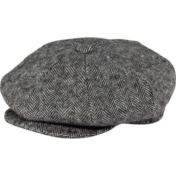 673331577e3 Grey Herringbone Baker Boy Cap