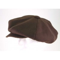 Brown Wool Big Apple Cap
