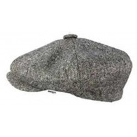 Baker Boy Cap - Grey Tweed