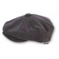 Wool Baker Boy Cap - Charcoal Grey