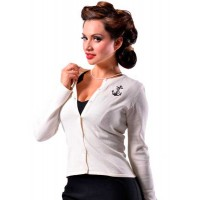 Steady Clothing - Cream Anchor Cardigan