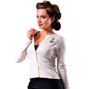 Steady Clothing - Cream Anchor Cardigan