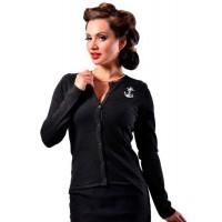 Steady Clothing - Black Anchor Cardigan