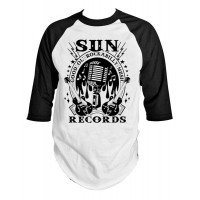 Sun Records - Rock N Roll Mic Raglan Tee
