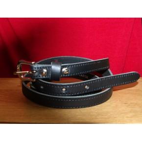 Black Thin Leather Belt
