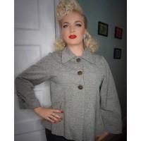 Classic Tarantula - Girls Trapeze Tweed 1940s Jacket