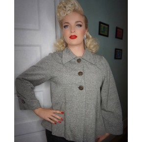 Classic Tarantula - Girls Trapeze Tweed 1940s Jacket