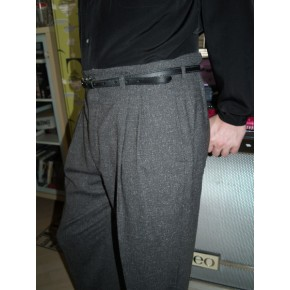 Grey Fleck High Waisted Trousers