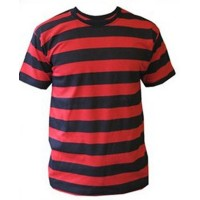 Girls Black/Red Striped T-Shirt