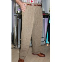 Fawn Fleck High Waisted Trousers