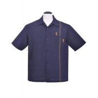 Blue Retro Tiki Stitch Shirt