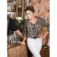 Classic Tarantula -  Leopard Portrait Collar Top