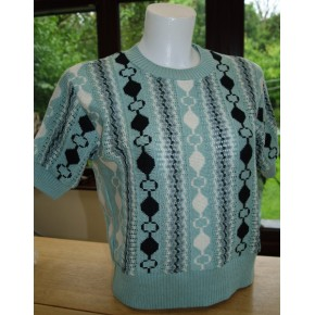 Girls Mint Cable Knit Sweater