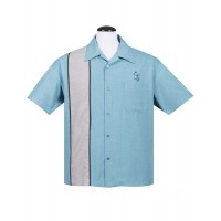 Steady - Pale Blue Palm Springs Shirt