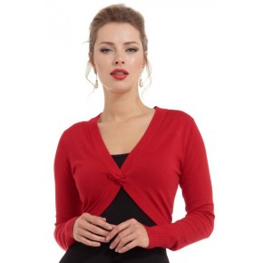 Elle Red Shrug Style Cardigan