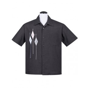 Steady - Charcoal Diamond Note Shirt
