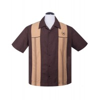 Steady - Brown Snake Stitch shirt