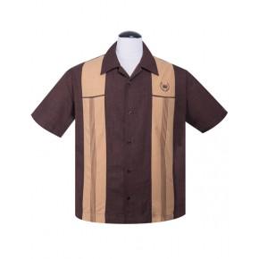 Steady - Brown Snake Stitch shirt