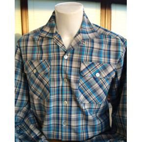 Blue Plaid Long Sleeve Gab Shirt