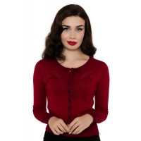 Dark Red Peacock Cardigan
