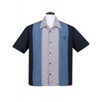 Steady - Navy Double Pic Stitch Shirt